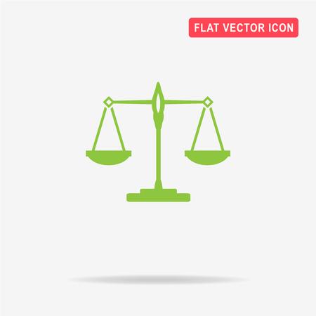 Scales balance icon. Vector concept illustration for design.