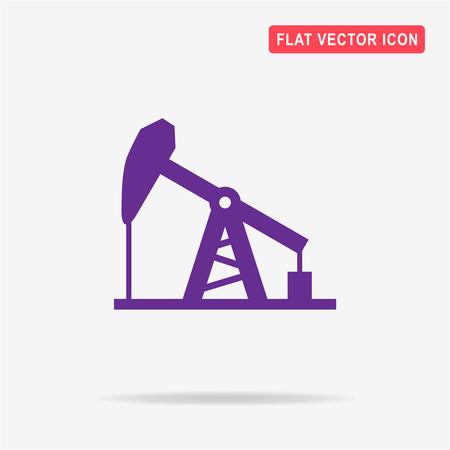 oil drum: Oil pump jack icon. Vector concept illustration for design.