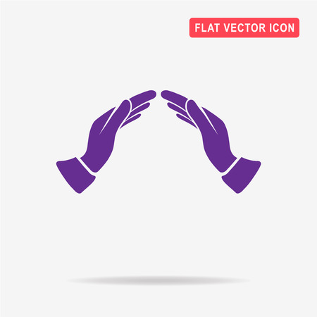 helpful: Supporting hands icon. Vector concept illustration for design.