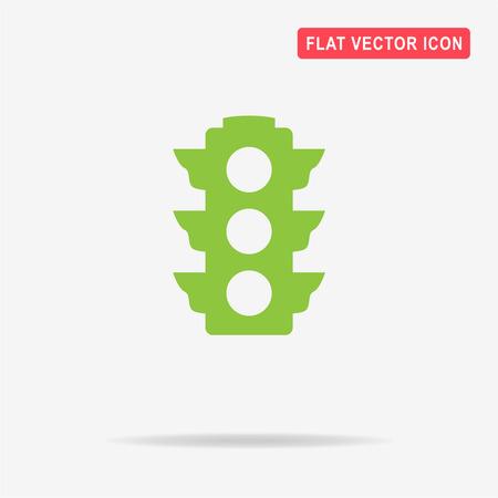 Traffic light icon. Vector concept illustration for design. Illustration
