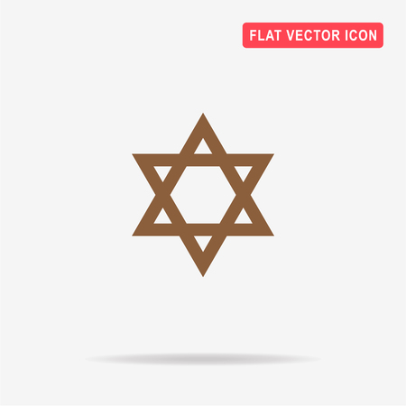 Star of David icon. Vector concept illustration for design. Illustration