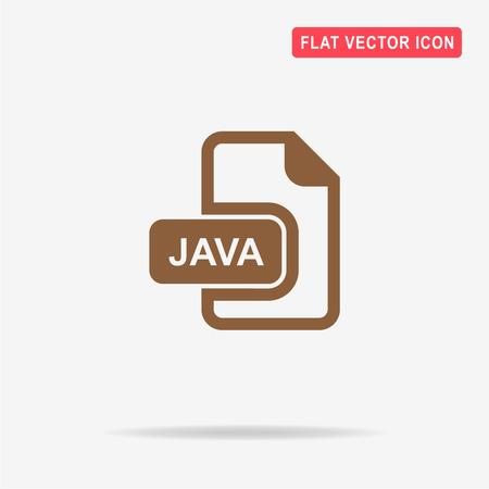 Java icon. Vector concept illustration for design.