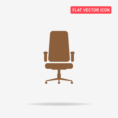 Office chair icon. Vector concept illustration for design.