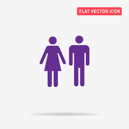 gent: Man and woman icon. Vector concept illustration for design. Illustration
