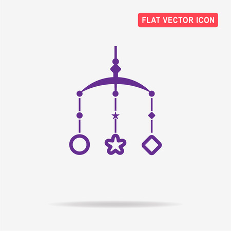 Baby bed carousel icon. Vector concept illustration for design.