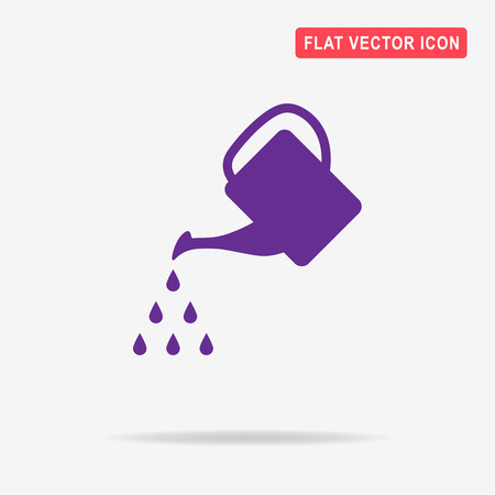 Watering can icon. Vector concept illustration for design.