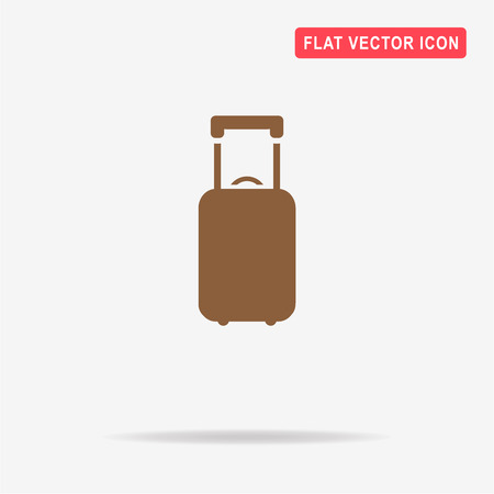 valise: Luggage icon. Vector concept illustration for design.