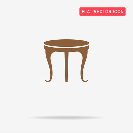 Table icon. Vector concept illustration for design. Illustration