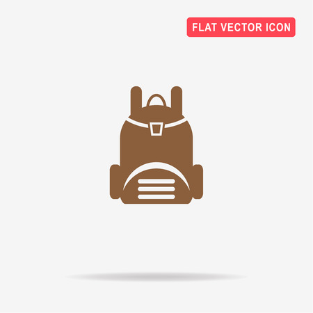 carryall: Backpack icon. Vector concept illustration for design. Illustration