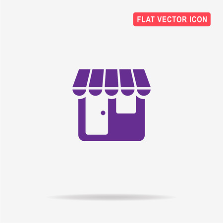 shopfront: Shop icon. Vector concept illustration for design.