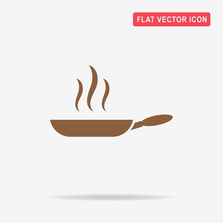 browning: Frying pan icon. Vector concept illustration for design.