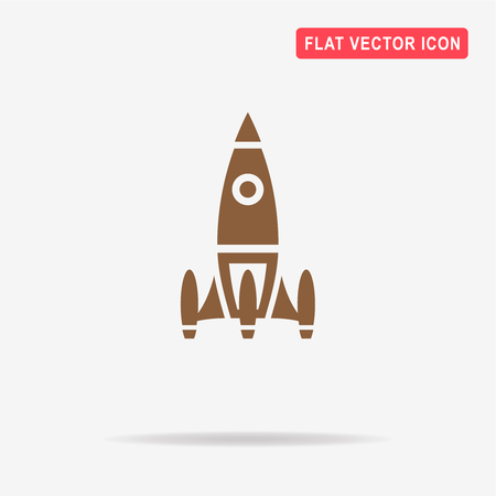 Space rocket icon. Vector concept illustration for design. Illustration