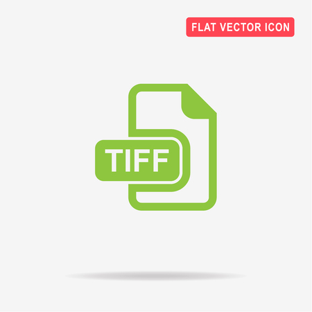 tiff: Tiff icon. Vector concept illustration for design.