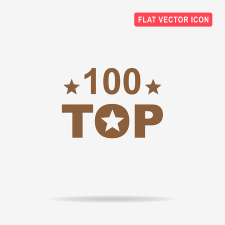 one hundred and ten: Top 100 icon. Vector concept illustration for design.