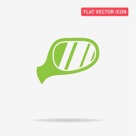 rear wing: Auto mirror icon. Vector concept illustration for design. Illustration