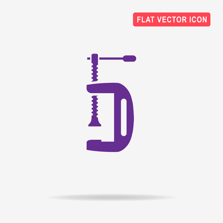 clamp: Clamp tool icon. Vector concept illustration for design.