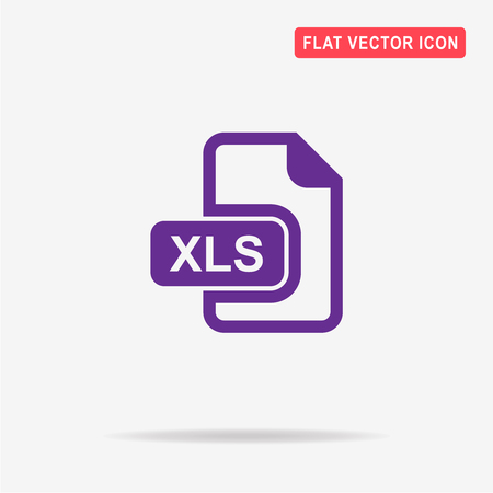 xls: Xls icon. Vector concept illustration for design.