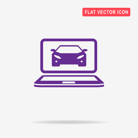 troubleshooting: Car diagnostics icon. Vector concept illustration for design. Illustration