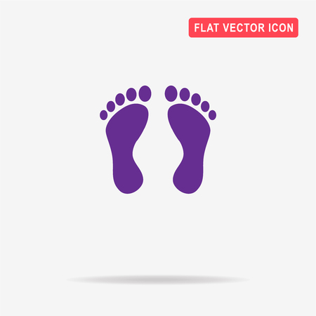 toes: Footprint icon. Vector concept illustration for design.