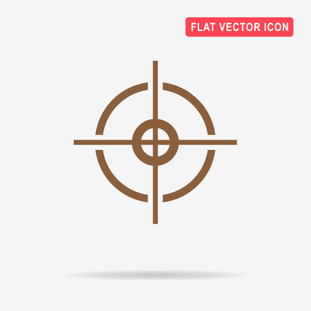 Crosshair icon. Vector concept illustration for design. Illustration