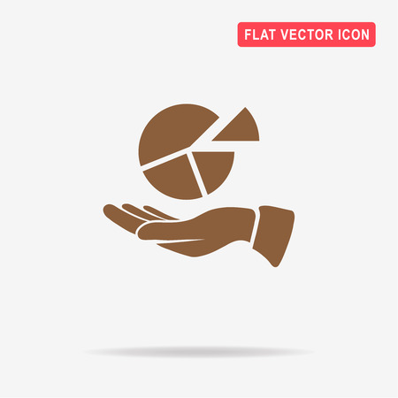 Pie chart icon. Vector concept illustration for design.