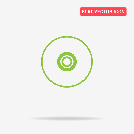 compact disc: Compact disc icon. Vector concept illustration for design. Illustration