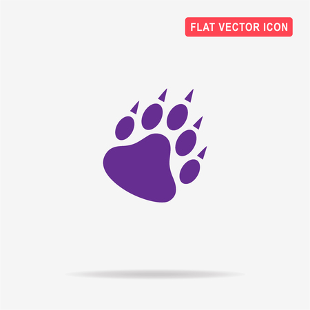 bear paw: Bear paw icon. Vector concept illustration for design. Illustration