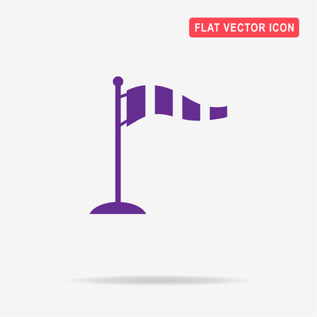 warning indicator: Windsock icon. Vector concept illustration for design.