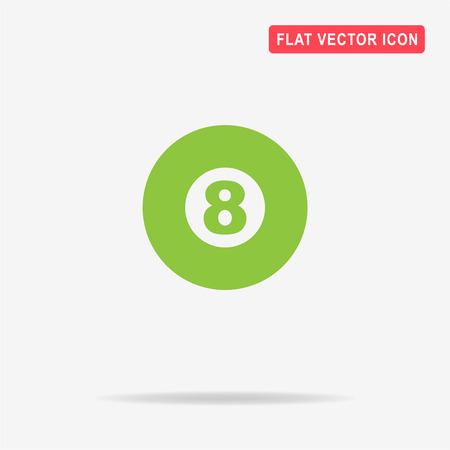 billiard ball: Billiard ball icon. Vector concept illustration for design.