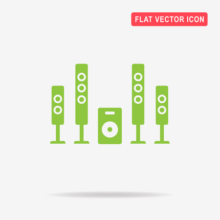 dvd room: Home theater icon. Vector concept illustration for design.