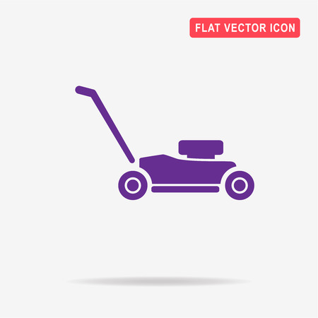 mowing the grass: Lawn mower icon. Vector concept illustration for design.