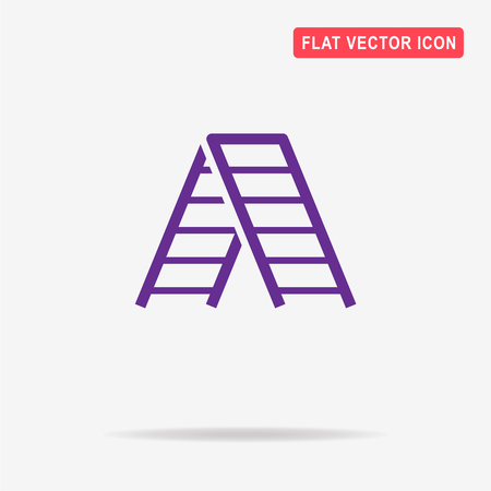 clambering: Ladder icon. Vector concept illustration for design.