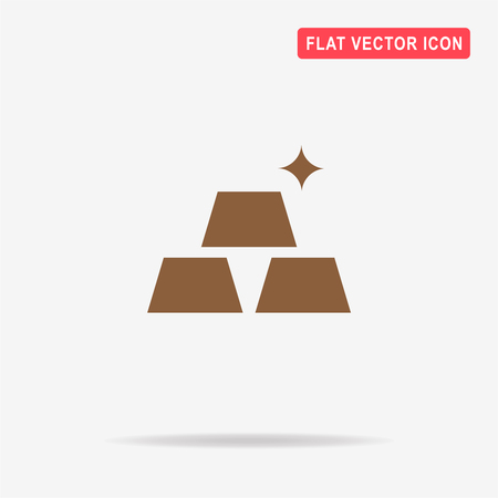 Gold icon. Vector concept illustration for design.