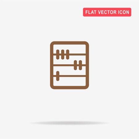 subtraction: Abacus icon. Vector concept illustration for design. Illustration