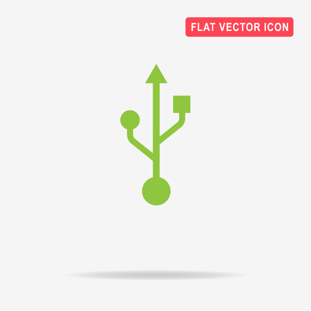 Usb icon. Vector concept illustration for design.