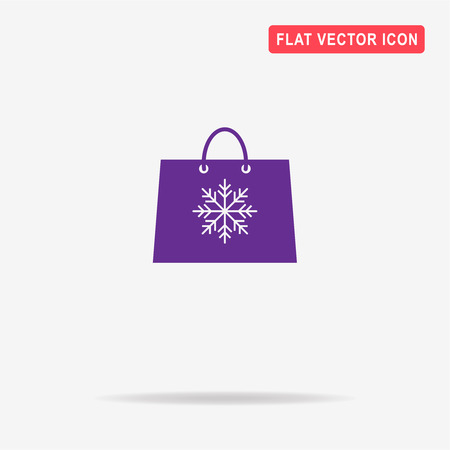 christmas shopping bag: Christmas shopping bag icon. Vector concept illustration for design.