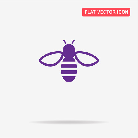 Bee icon. Vector concept illustration for design. Illustration