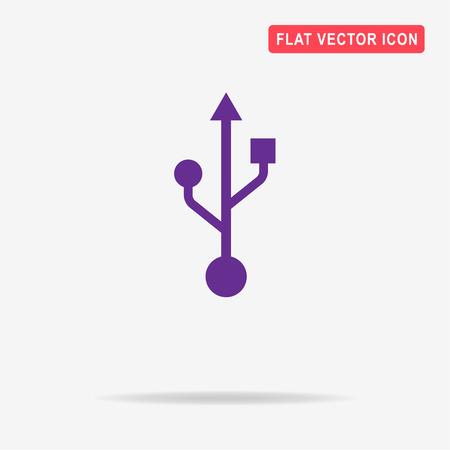 Usb icon. Vector concept illustration for design.