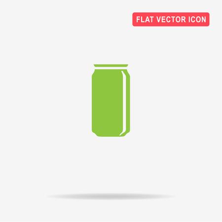 soda can: Soda can icon. Vector concept illustration for design.