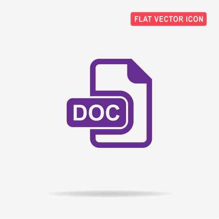 oryginal: Doc icon. Vector concept illustration for design.