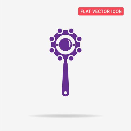 clack: Baby beanbag icon. Vector concept illustration for design. Illustration