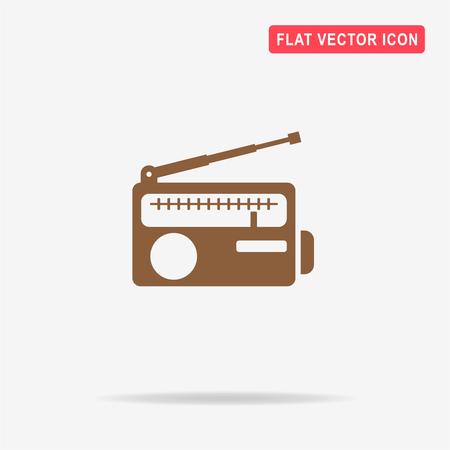 shortwave: Radio icon. Vector concept illustration for design.
