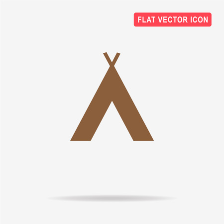 Wigwam icon. Vector concept illustration for design.