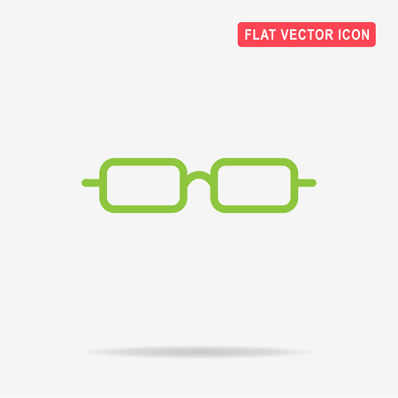 Glasses icon. Vector concept illustration for design. Illustration