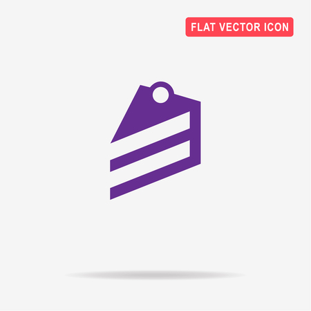 piece of cake: Piece of cake icon. Vector concept illustration for design. Illustration