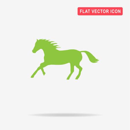 Horse icon. Vector concept illustration for design.