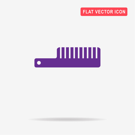 personal grooming: Comb icon. Vector concept illustration for design.