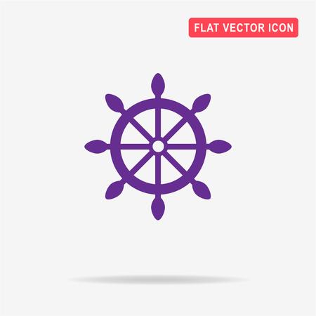 Rudder icon. Vector concept illustration for design. Illustration