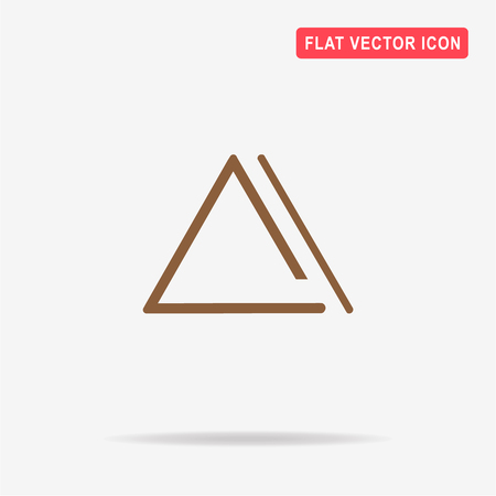 struck: Music triangle icon. Vector concept illustration for design.