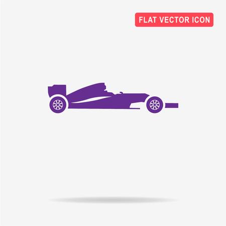 bolide: Race car icon. Vector concept illustration for design.